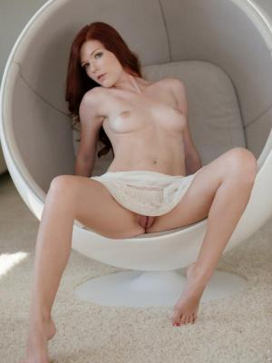 Mia Sollis Cute redhead girl gets naked