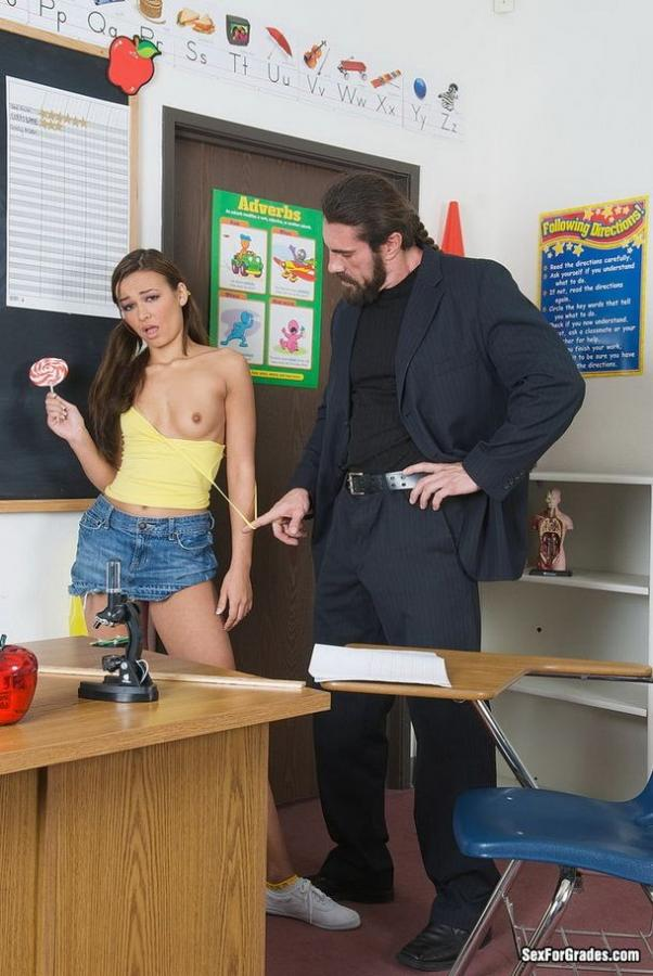 Schoolgirl Chrissy Moon fucked on table for grades Images 249913