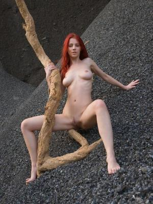 Ariel Perfect Redhead Babe By The Old Tree